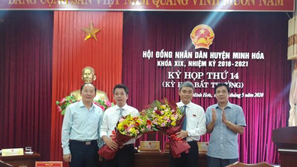 Minh Hóa bầu bổ sung Bí thư huyện uỷ, Chủ tịch UBND huyện