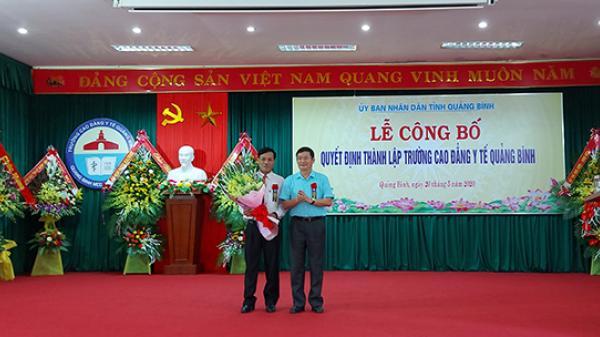 Công bố quyết định thành lập Trường cao đẳng Y tế Quảng Bình