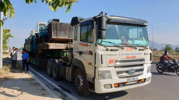 Xe container biển Quảng Bìnhvi phạm 5 lỗi, phạt hơn 160 triệu đồng