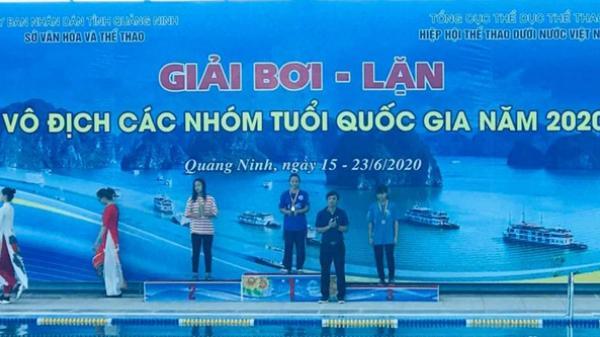 Quảng Bình giành được 14 Huy chương tại Giải Bơi - Lặn Vô địch các nhóm tuổi Quốc gia năm 2020