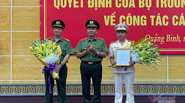 PhóGiám đốc Công an tỉnh Hà Tĩnh làm Giámđốc Công an tỉnh Quảng Bình.