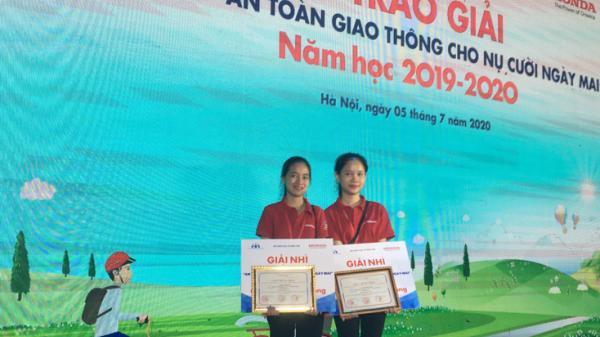 2 học sinh Quảng Bình xuất sắc giành giải nhì cuộc thi về an toàn giao thông cấp quốc gia