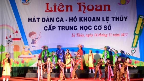 Lệ Thủy: Liên hoan hát dân ca-hò khoan Lệ Thủy bậc THCS