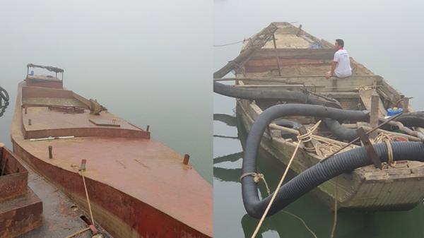 Quảng Bình: Bắt quả tang, xử lý 2 thuyền khai thác cát trái phép