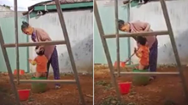 Người phụ nữ lớn tuổi bạo hành dã man, dùng vật cứng thọc vào bộ phận sinh dục bé trai 2 tuổi