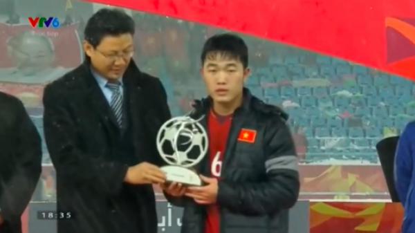Chơi bóng bằng cả trái tim, U23 Việt Nam vinh dự nhận giải Fair Play giải U23 châu Á