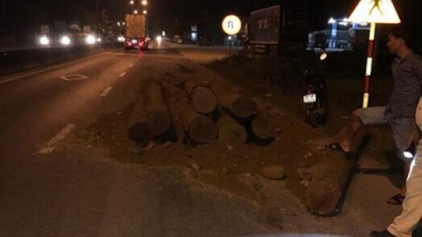 Quảng Nam: Bắt xe ben chở gỗ lậu ngụy trang thành xe chở đất