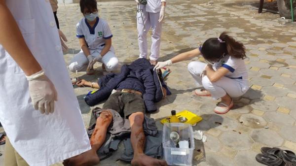 Hội An: Thùng phuy bất ngờ phát nổ lớn, 2 người bị thương nặng