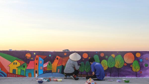 Quảng Ngãi: Rực rỡ sắc màu với con đường bích họa đầu tiên trên đảo Lý Sơn
