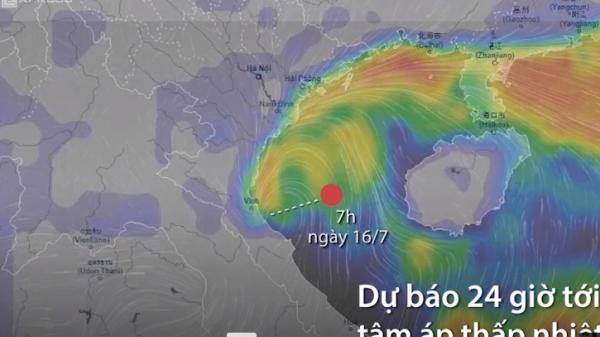 NÓNG: Đường đi của bão Sơn Tinh với sức gió tới 75km/h