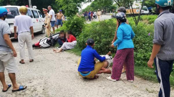 Tam Kỳ (Quảng Nam): Chạy trốn CSGT, 2 cô gái đi xe máy tông người đi đường bất tỉnh