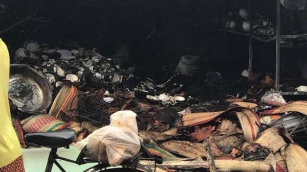 Đăk Đoa (Gia Lai): Bà hỏa ghé thăm, sạp hàng bị cháy rụi trong đêm