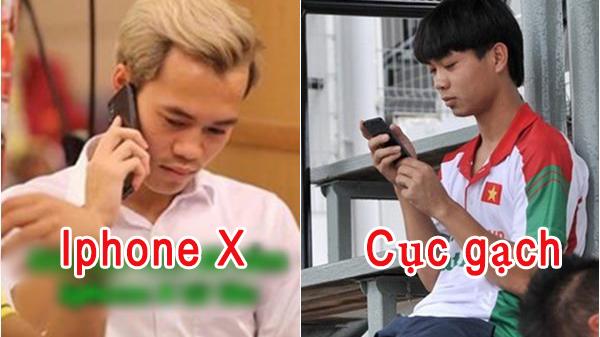 """BẤT NGỜ: Cả dàn U23 đều dùng IPhone X, riêng Công Phượng vẫn trung thành với điện thoại """"cùi bắp"""" này đây"""