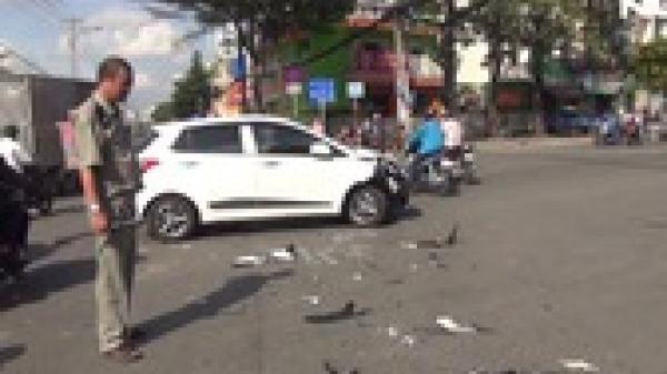 Quảng Nam: Xe máy của thầy giáo đâm thủng ô tô con