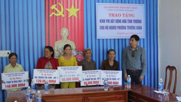 Quảng Nam: Gia đình doanh nhân dùng 1 tỉ đồng tiền phúng điếu làm nhà cho người nghèo