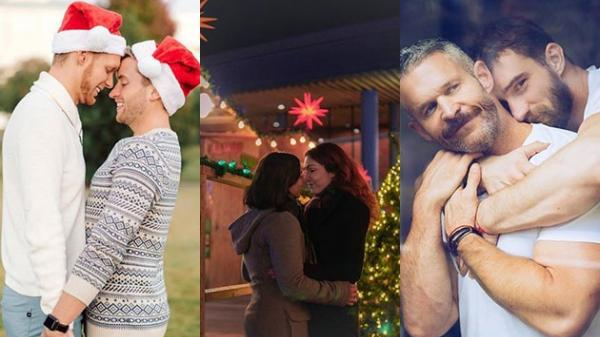 'Lụi tim' với những hình ảnh đón Giáng sinh của các cặp đôi đồng tính