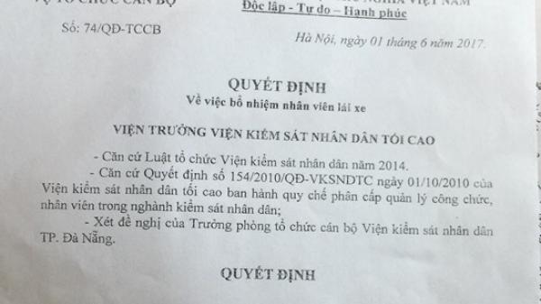 Giả quyết định của Chủ tịch tỉnh Quảng Nam để lừa đảo