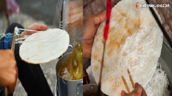 Bánh tráng mạch nha Quảng Ngãi, món ngon níu chân người