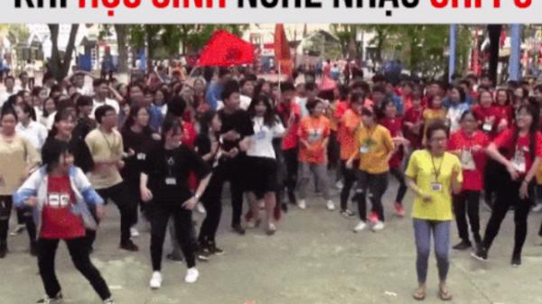 Quảng Ngãi: Trường học chất chơi 'quẩy' tưng bừng trên nền nhạc 2 hit của Chi Pu