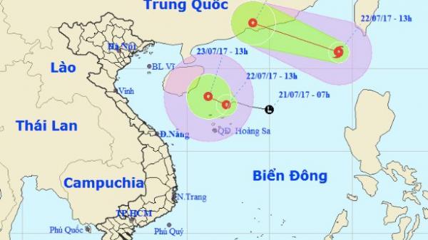 Bão số 3 giật cấp 10 nối đuôi áp thấp vào biển Đông