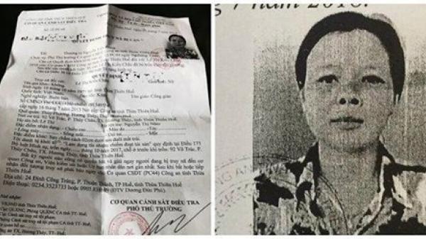 """Thừa Thiên Huế: Công an phát lệnh truy nã """"nữ quái"""" chiếm đoạt hơn gần 9 tỷ rồi bỏ trốn"""