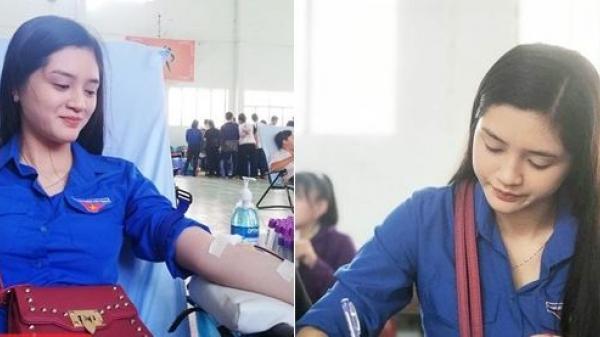 Bạc Liêu: Tham gia hiến máu tình nguyện, nữ sinh gây sốt vì gương mặt xinh như thiên thần