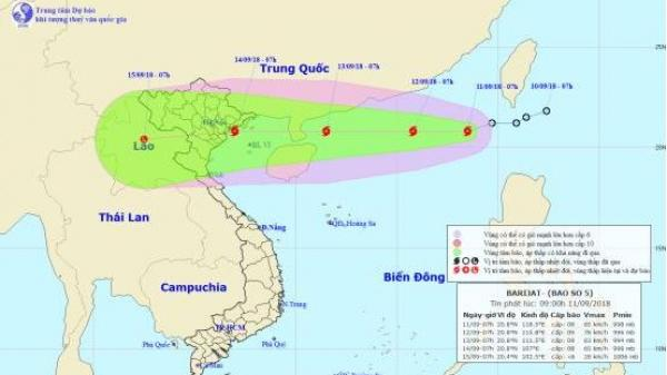 Áp thấp mạnh lên thành bão, các địa phương từ Quảng Ninh đến Quảng Nam cần kịp thời ứng phó