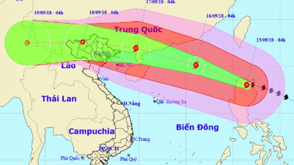 KHẨN: Chiều nay, siêu bão Mangkhut đi vào biển Đông, Bắc Bộ sắp có mưa RẤT TO