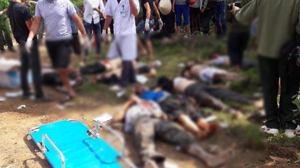 Cận cảnh hiện trường vụ tai nạn thảm khốc khiến 11 người chết ngay tại chỗ, 4 người thương nặng