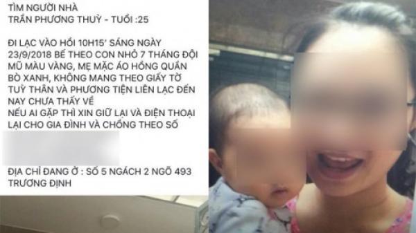 Vợ trầm cảm bế con 8 tháng tuổi đi khỏi nhà, gia đình càng lo lắng khi có thông tin 1 người phụ nữ ôm con nhảy cầu Vĩnh Tuy