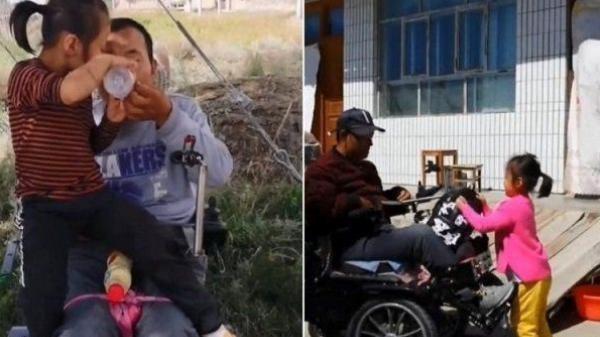 Xót xa trước câu chuyện mẹ bỏ đi, cô bé 6 tuổi một mình chăm bố tàn tật