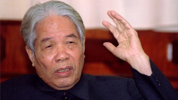TIN BUỒN: Nguyên Tổng bí thư Đỗ Mười qua đời