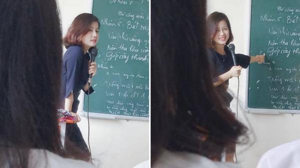 Ngất ngây với hình ảnh cô giáo dạy Văn xinh như hot girl cùng nụ cười toả nắng