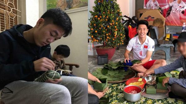 Cận cảnh màn gói bánh chưng siêu độc đáo của các cầu thủ đội tuyển quốc gia Việt Nam