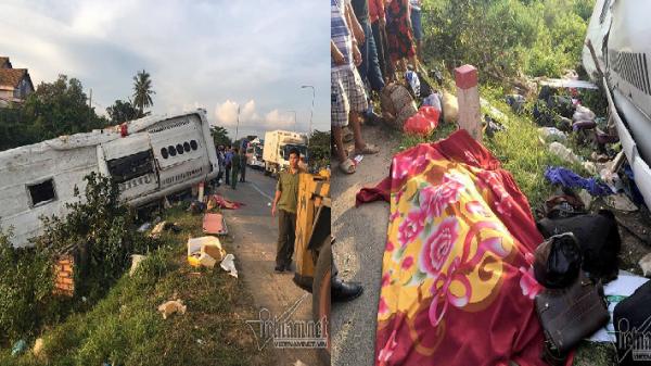 Xe khách đối đầu xe container, 2 người chết tại chỗ