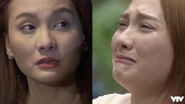 Nhìn Bảo Thanh khóc thật đau nhưng ai cũng mong cô tẩy trang đi vì phấn dày bờ cả lên rồi