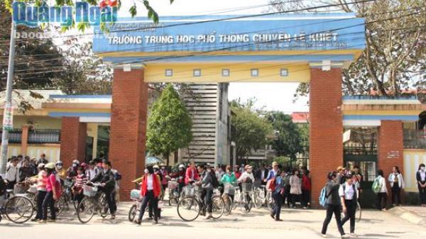 55 tỷ đồng đầu tư, cải tạo Trường THPT Chuyên Lê Khiết