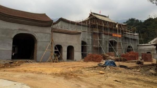 Sập giàn giáo công trình tại Yên Tử (Quảng Ninh) khiến nhiều người bị thương