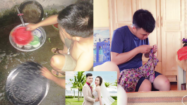 Của hiếm còn sót lại: Anh chồng 9X Quảng Ninh tranh làm hết việc nhà cho vợ