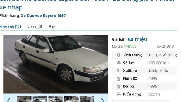 """CỰC HOT: Ô tô chính hãng siêu rẻ giá chỉ 50 triệu đồng đang làm """"mưa gió"""" tại chợ Việt"""