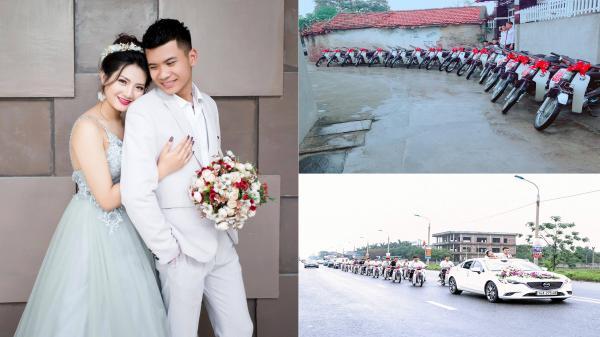 """CLIP ẤN TƯỢNG: Dàn """"Dream chiến thắt nơ"""" rước dâu tại Quảng Ninh gây xôn xao cộng đồng mạng"""
