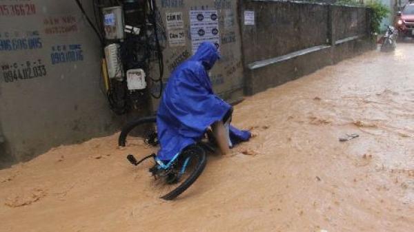 Quảng Ninh: Chỉ mưa 30 phút, dân phố Hạ Long ì ạch lội bùn