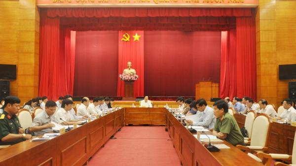 Hội nghị Ban Thường vụ Tỉnh uỷ Quảng Ninh: Thảo luận, cho ý kiến về tình hình thực hiện nhiệm vụ KT - XH 9 tháng năm 2018