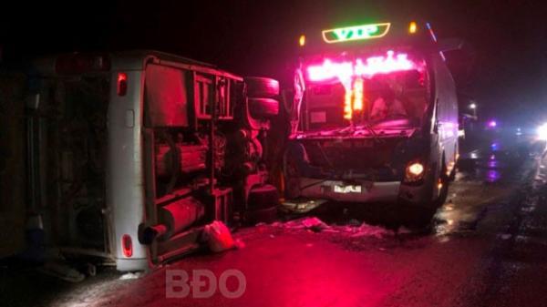Tình tiết bất ngờ vụ 2 xe khách đ.âm nhau trên QL1, 14 người thư.ơng vo.ng tại Bình Định