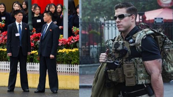 Đọ gu thời trang của đội vệ sĩ hộ tống hai nhà lãnh đạo Mỹ và Triều Tiên