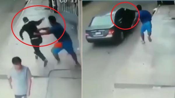 CLIP: C.ướp gi.ật điện thoại, tẩu thoát bằng ô tô ngoạn mục như phim hành động