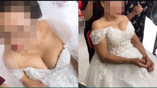 Bất ngờ xuất hiện cô dâu 75 tuổi khoe vòng một gợi cảm khiến dân mạng tranh cãi