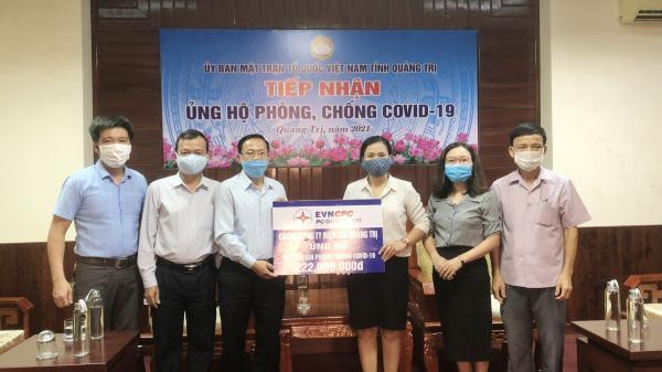 Công ty Điện lực Quảng Trị ủng hộ 222 triệu đồng cho quỹ phòng, chống COVID-19