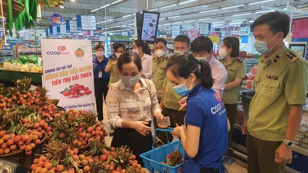 Cục Quản lý thị trường, Bưu điện tỉnh Quảng Trị hỗ trợ tiêu thụ vải thiều Bắc Giang