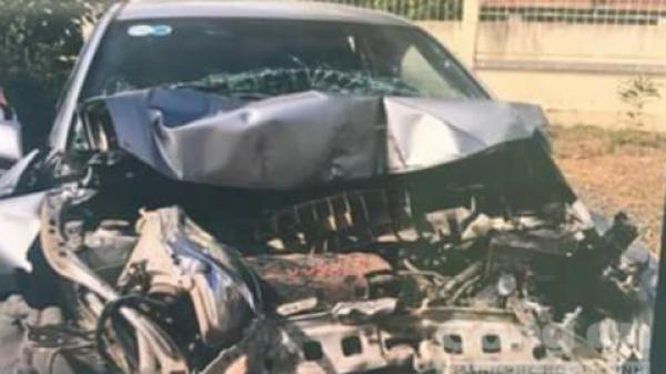 Xe ô tô biển Quảng Trị gây tai nạn liên hoàn gần trạm BOT Sông Phan